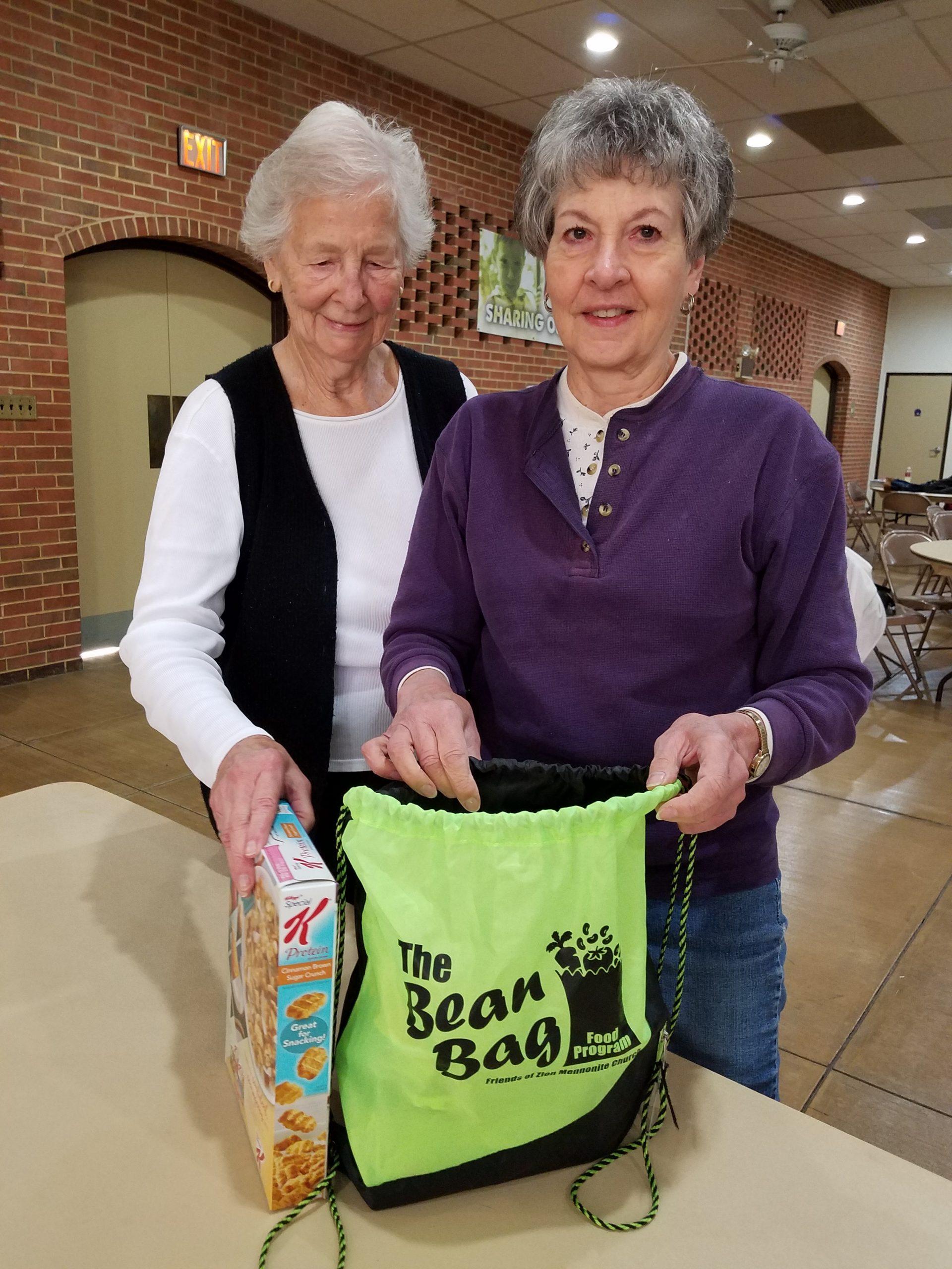Volunteers for The Bean Bag Food Program