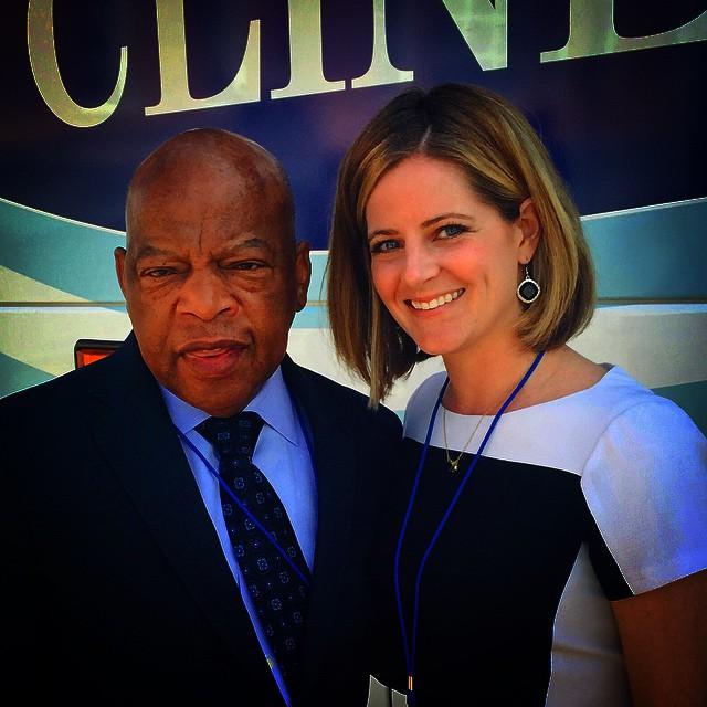 Liza Heavener with Congressman John Lewis of Georgia. (Photo provided)