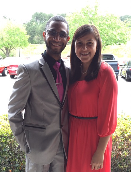 Regina Altman and her husband Antwan after church. (Photo provided)