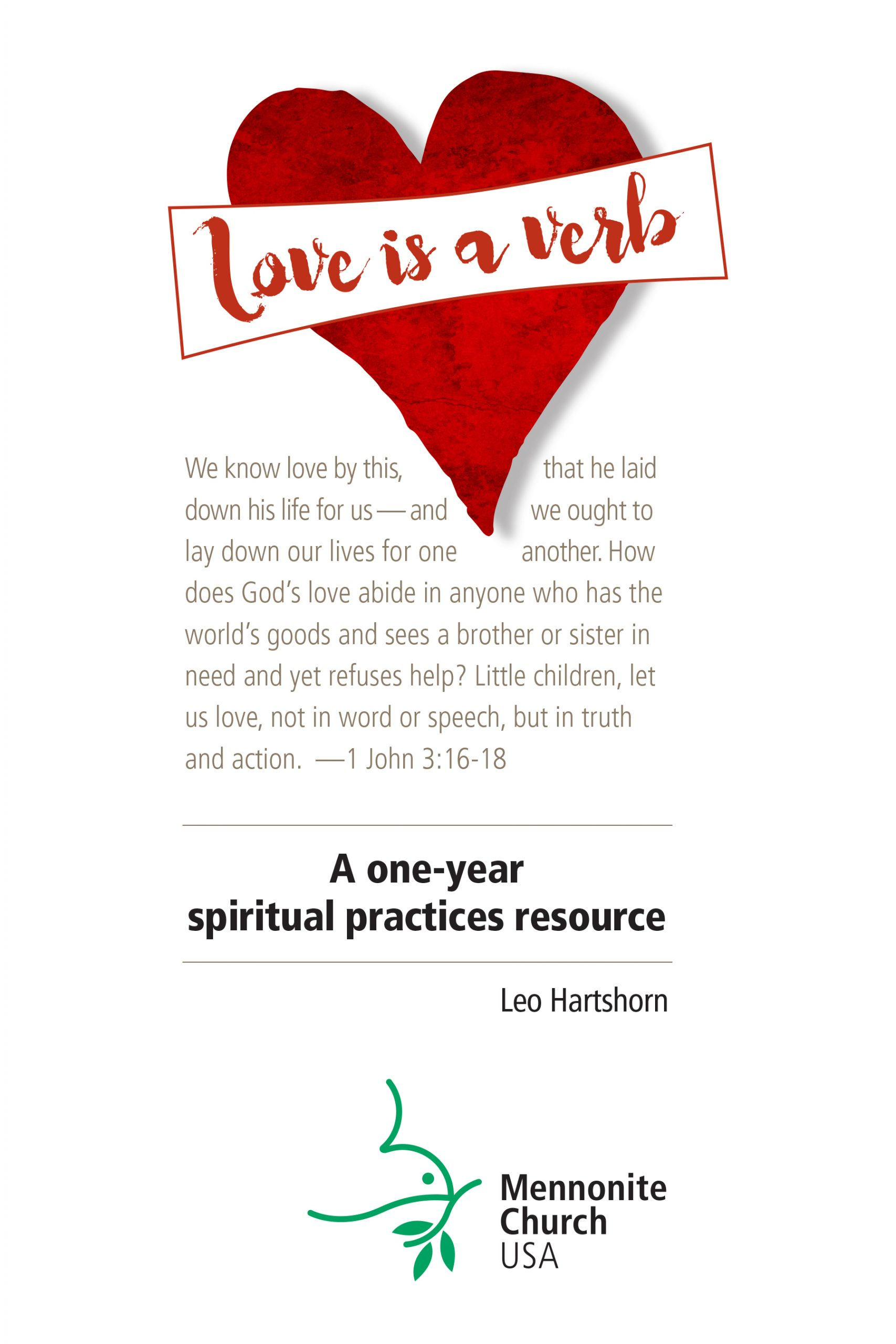 Cover of the Love is a Verb Spiritual Practices Resource