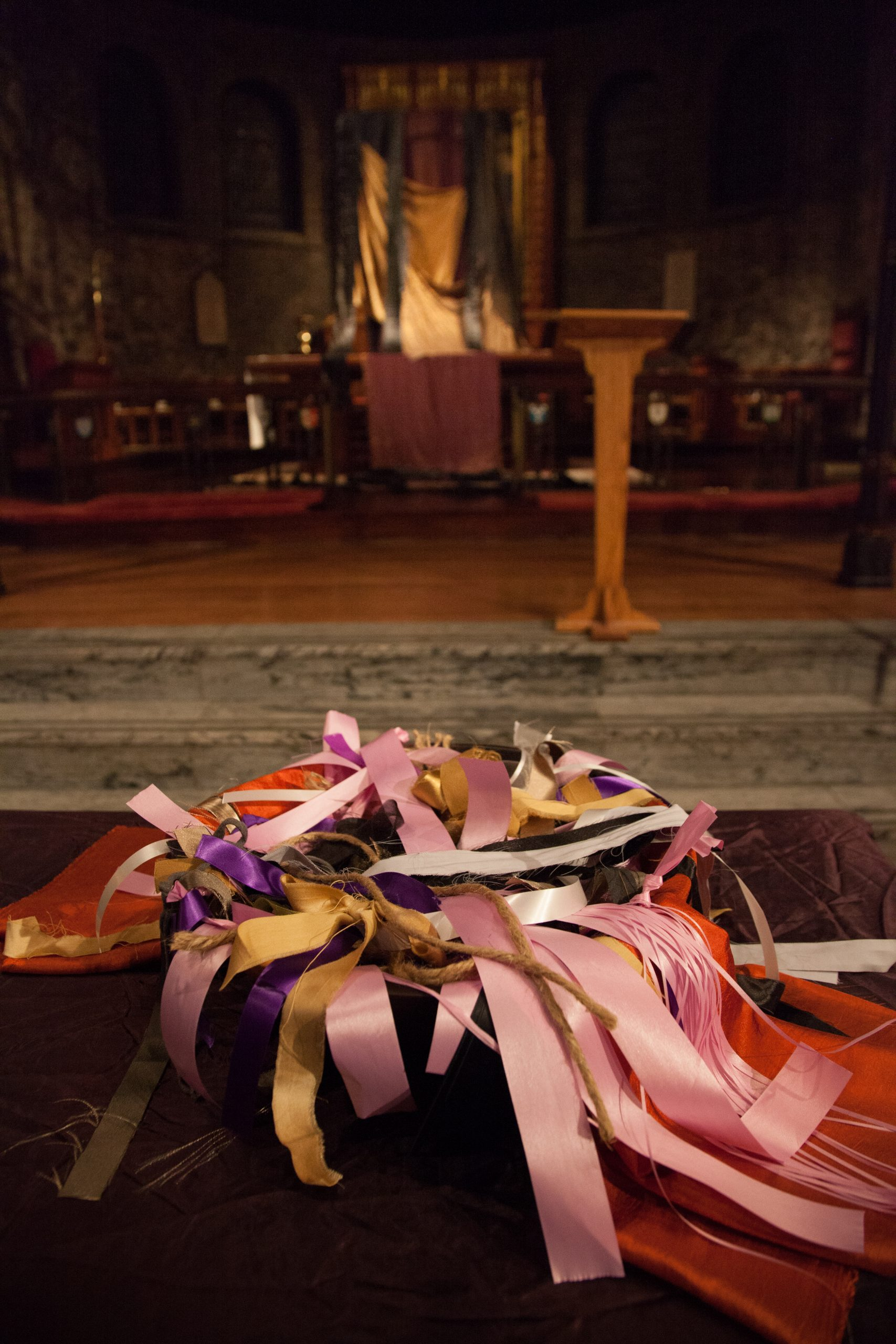 At the Service of Lament and Hope at KC2015, each person gathered received a ribbon to hold throughout the service.