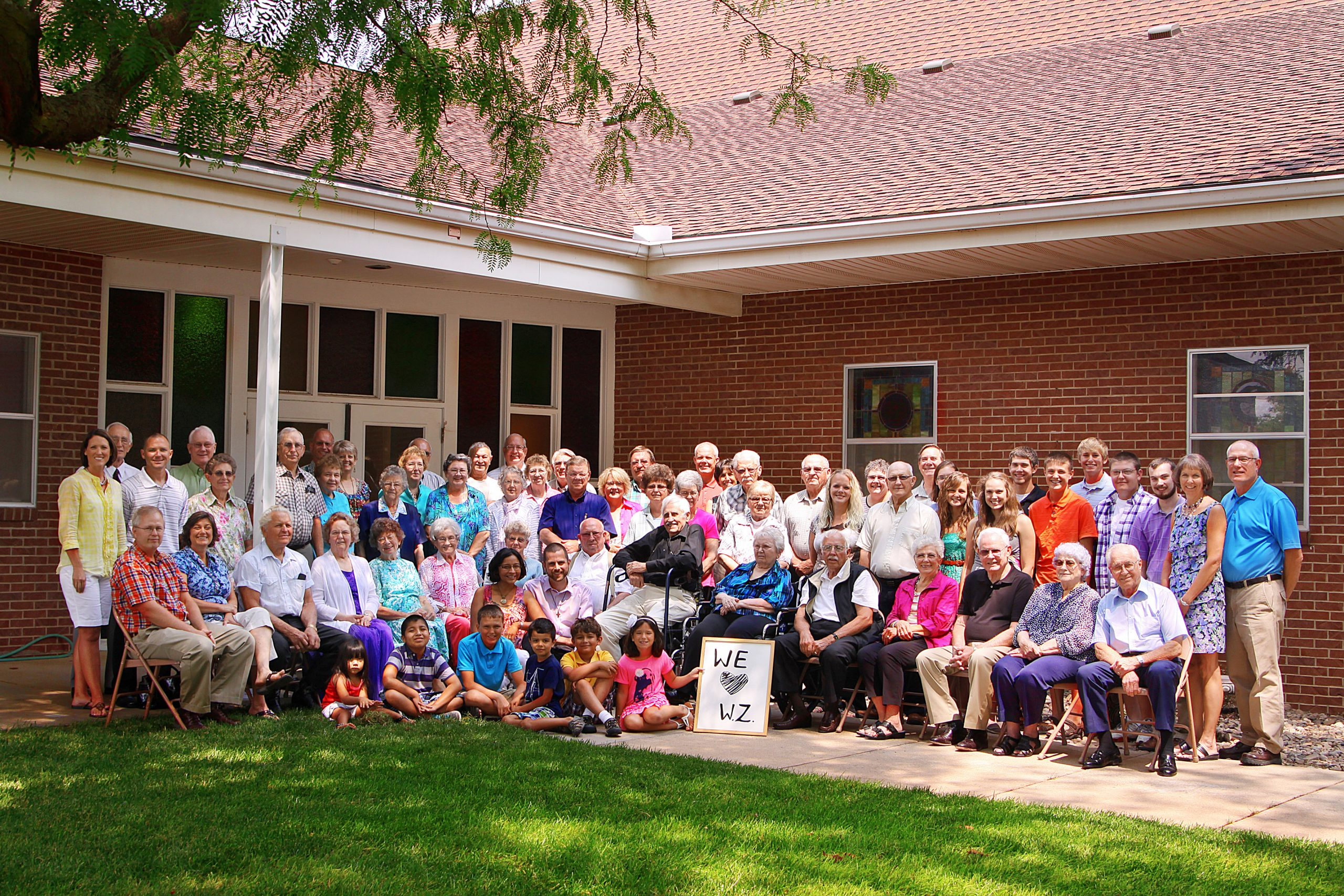 The congregation of West Zion Mennonite Church, Moundridge, Kan. (Photo provided)