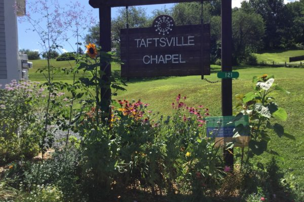 Taftsville Chapel sign