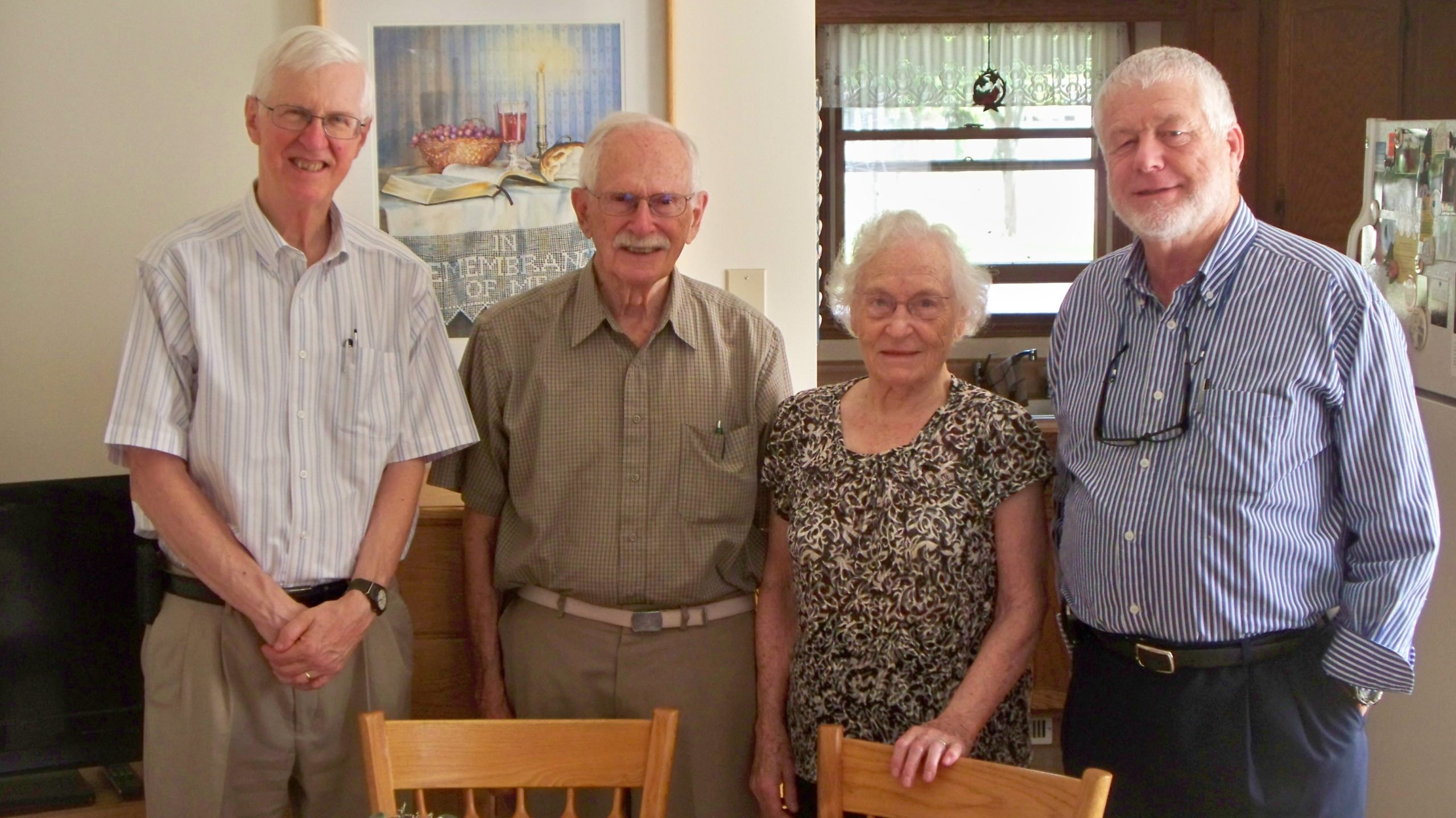 Alan Kreider, John Driver, Bonnie Driver, Rick Waldrop
