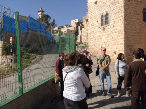 Hebron -- one path for Jewish settlers, one path for Palestinians