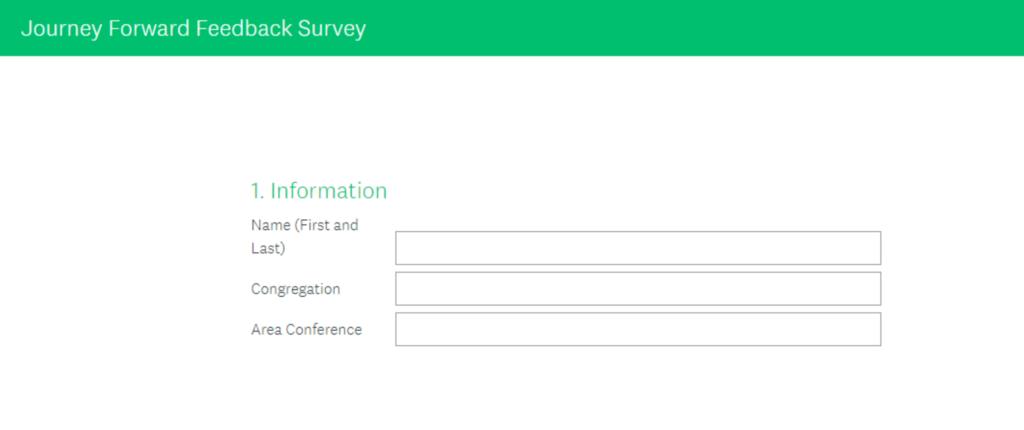 Journey Forward Feedback Survey