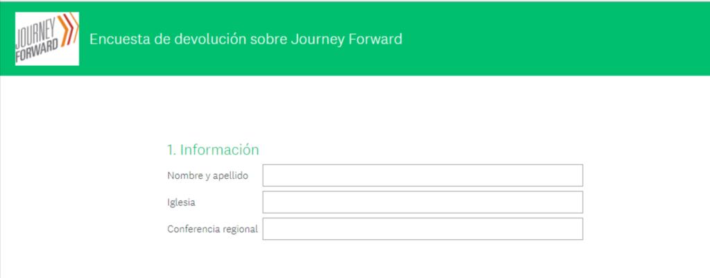 Encuesta de devolución sobre Journey Forward