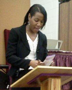 Iglesia Comunitaria Victory, de Solon, Ohio: Pastora Larissa Moore. (Foto provista por Rina Harding)