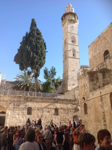 Mosque of Omar, from the square outside the Church of the Holy Sepulchre