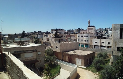 View from inside Aida Refugee Camp