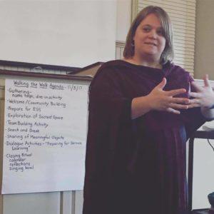 Amy Yoder McGloughlin, teaching.